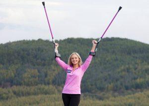 Nikki Bradley crutches