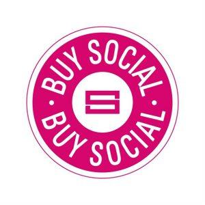 pink buy social logo