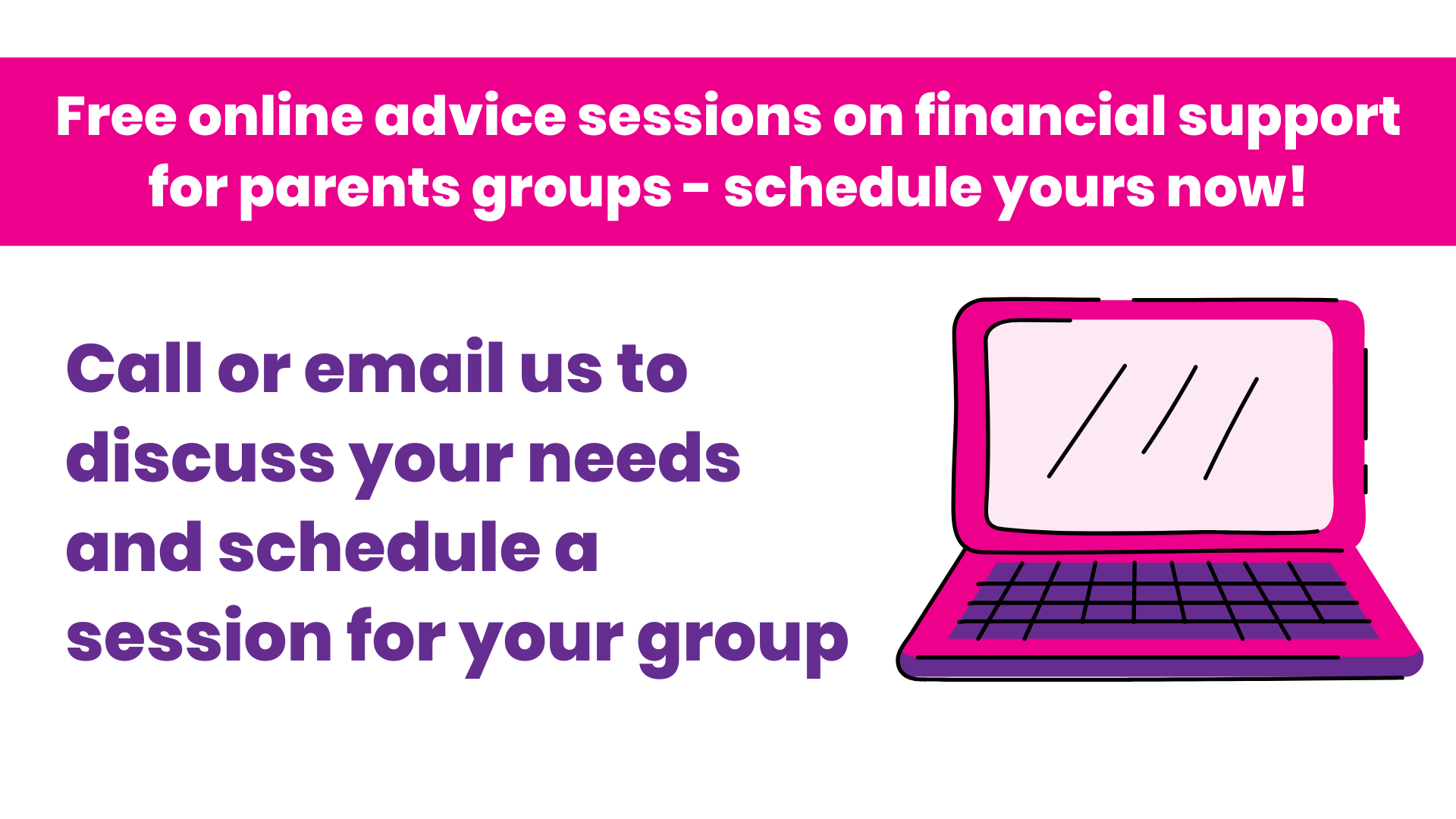 Family Benefits Advice Service now offering online advice sessions for parent groups
