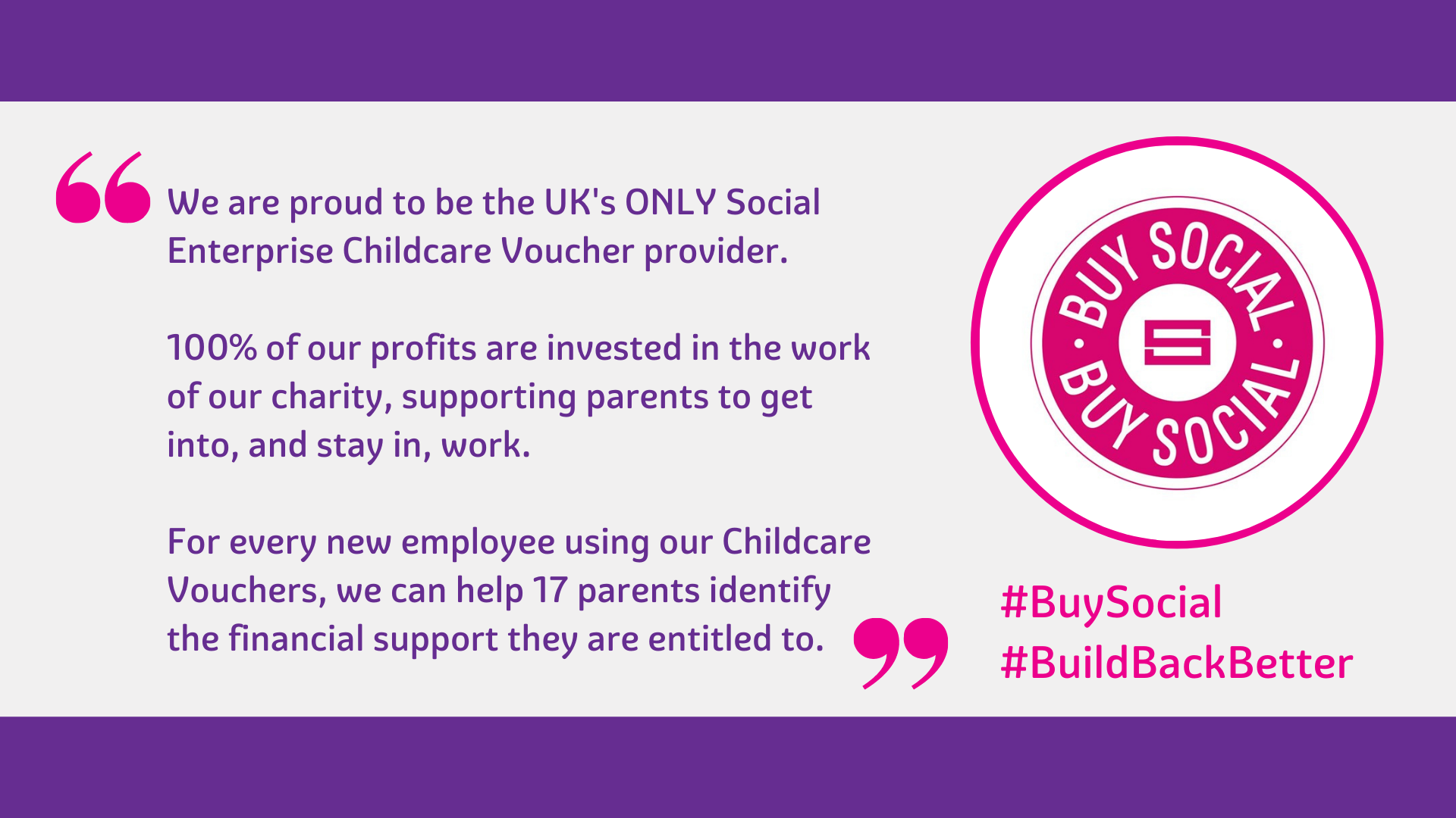 Childcare Vouchers – add social value to your business while saving money