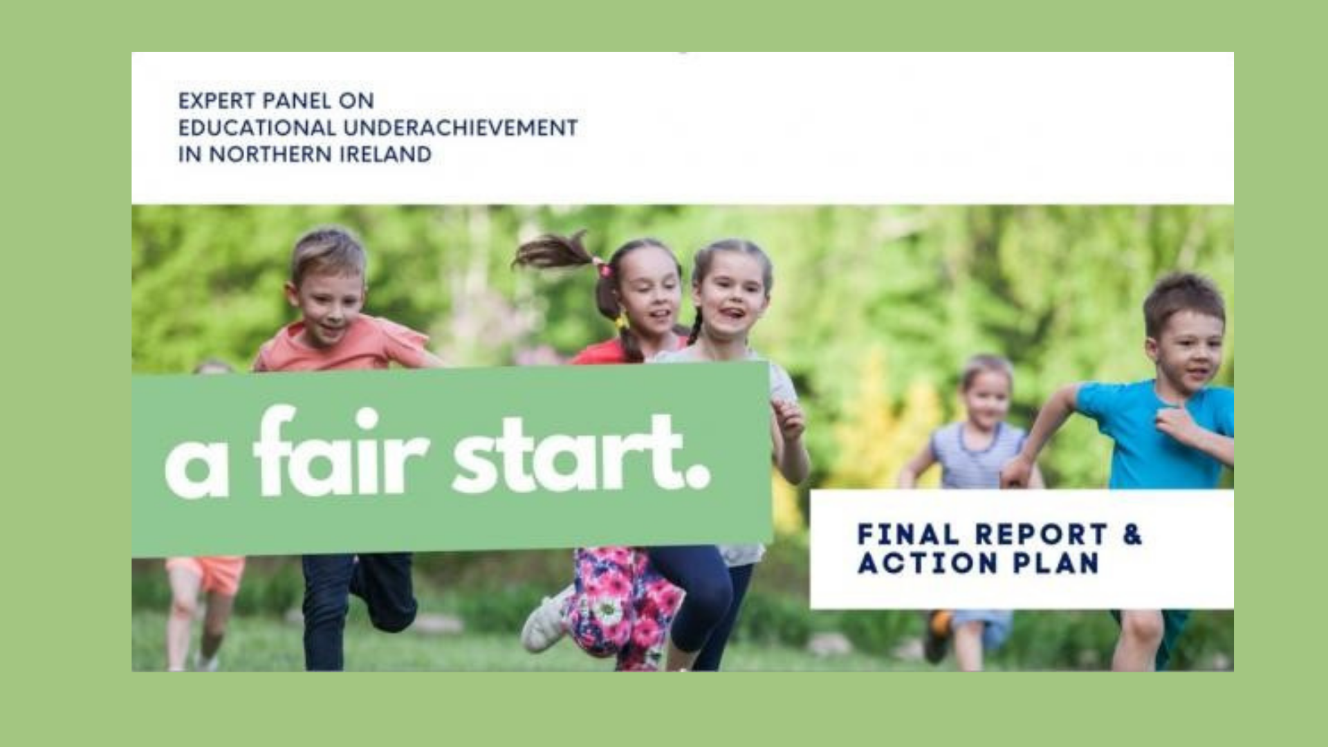 New report identifies Early Years as a key priority area to address educational underachievement