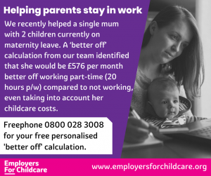 FBAS case study helping parents stay in work May 2021